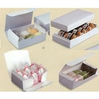 フリーボックスホワイト/大福 白/白の組み立て/白のワンタッチ/まんじゅうワンタッチ箱/大福箱