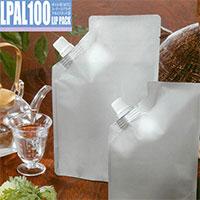 ストロングパック LPAL100 LIP PACK(ボイル用・コーナースパウト付・アルミ)